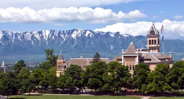 utah state old main mountains
